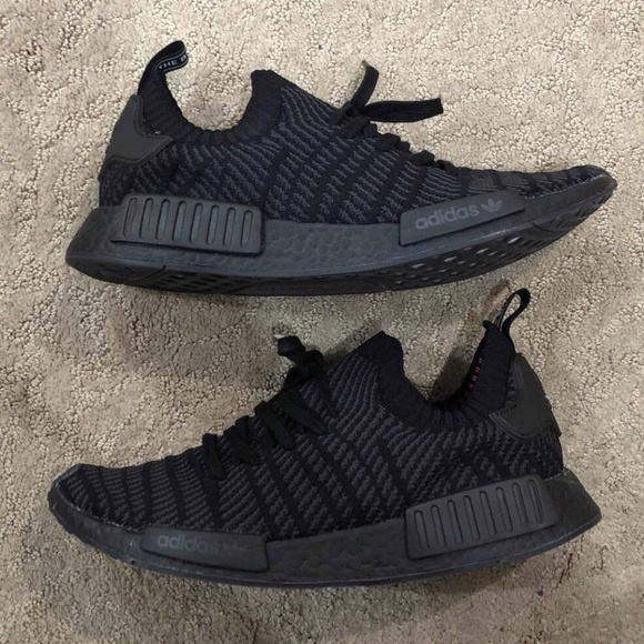 great deals store differently Adidas NMD_R1 Boost STLT Triple Black Mens Size 12